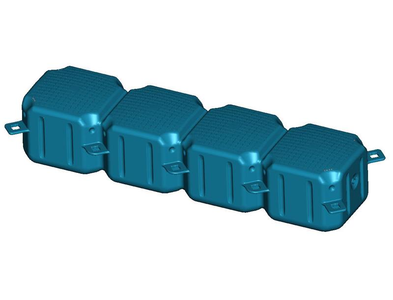 Four-piece pontoon