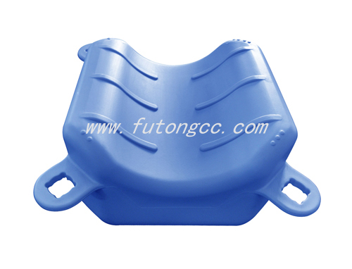Motorboat groove pontoon (blue)