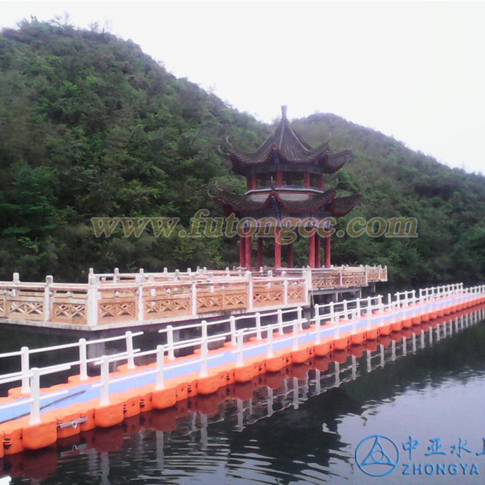 湖南永州阳明山国家森林公园浮桥