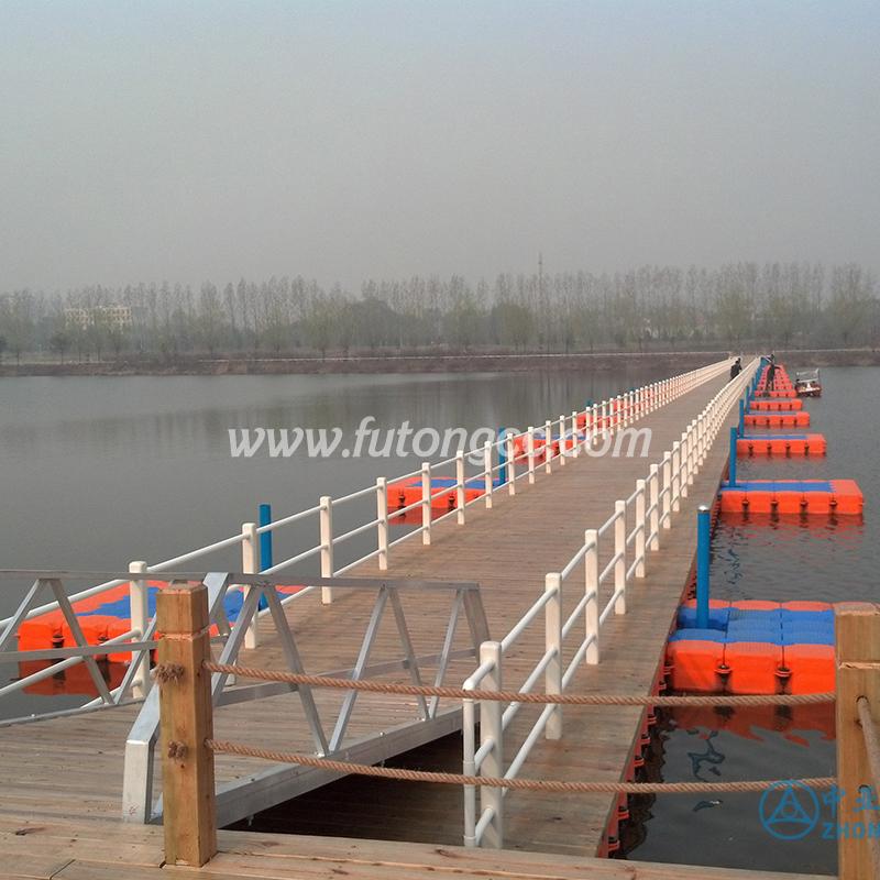 山西临汾汾河浮桥