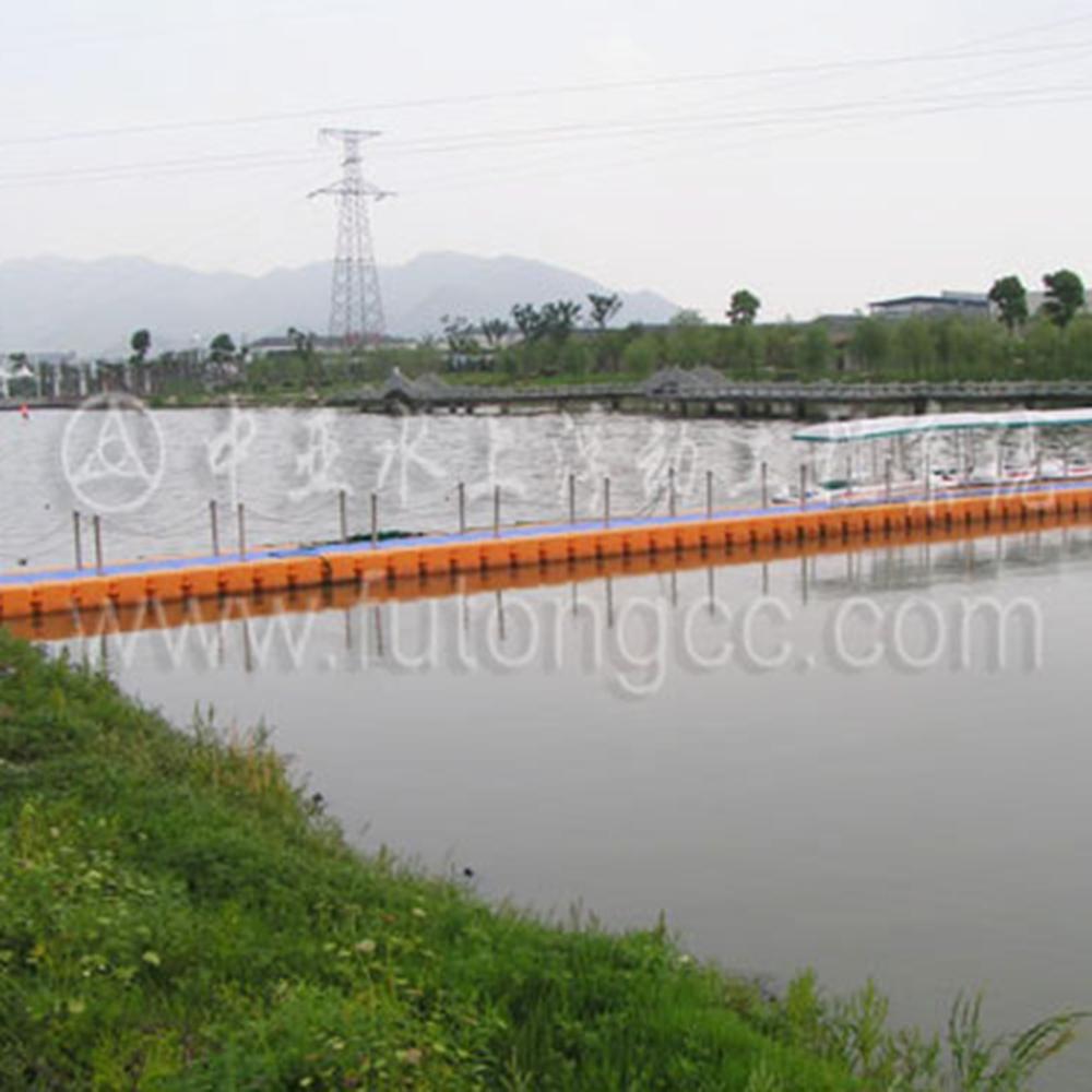 临海洛河公园浮桥